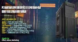 KOMPUTER OFFICE LOW BUDGET  I3 3240 | 4GB RAM | SSD 120GB | MOBO H61