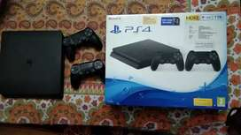 SONY PLAYSTATION 4 SILM 1TB WITH2 CONTROLLERS