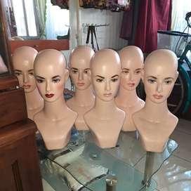 Manekin Kepala Cewek Plastik Terawat