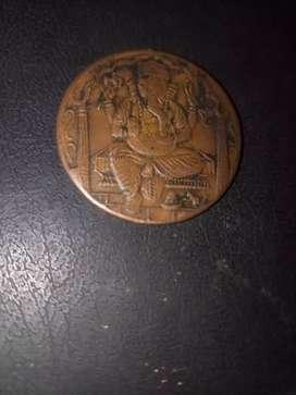 Jai god Ganesha coin.