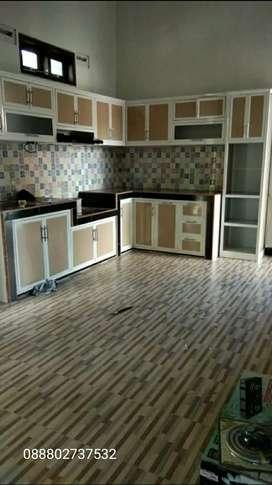 kitchen set alumunium acp bisa costum sesuai permintaan gratis survei
