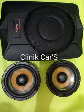 Audio mobil subwoofer kolong xplode + split Buddy CB ^_^