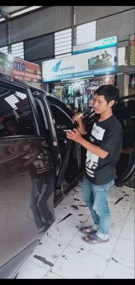 Pasang kaca hitam AG full permobil cuma 250 rb