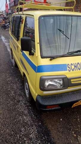 School van with children in Hilton school in mohebewala