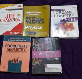 Physics, chemistry, Math books for JEE main and past question papers