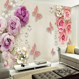Wallpaper Dinding 3D Custom Design