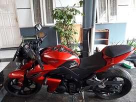 Kawasaki z250 fi 2013 red