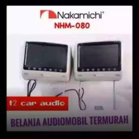 Mumer gan monitor headrest 8inc merk NAKAMICHI JAPAN