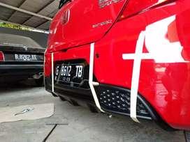 Diffuser belakang Honda Brio
