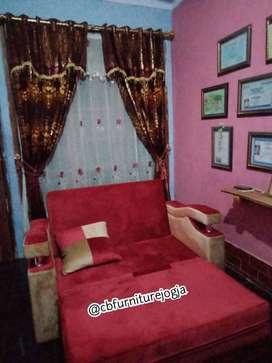 Sofa bed santai design cantik bisa custom