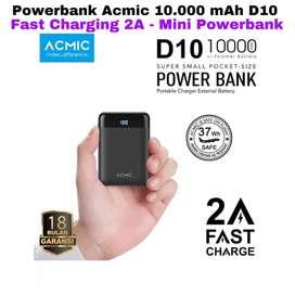 Powerbank ACMIC original 10.000 mAh D10 2a + indikator Mantap Bagus