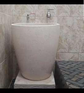 Bak mandi terazzo tipe gelas
