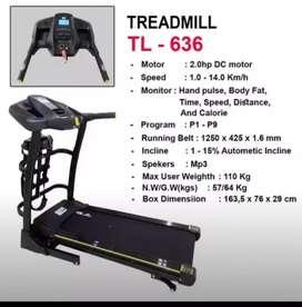 Peralatan fitnes = treadmil electrik TL 636