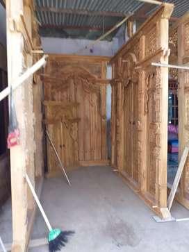 Gebyok gapuro pintu bahan kayu jati full