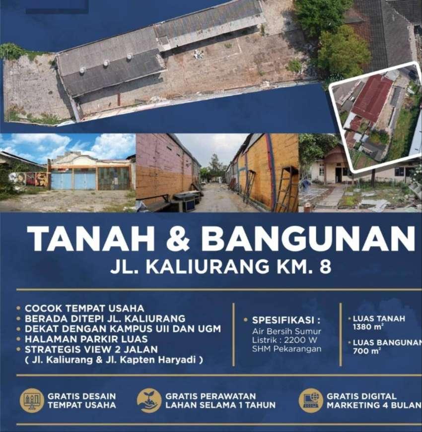 Tanah 2 Muka ex Gudang Komersil, Murah di Jakal Kaliurang Kap Hariyadi