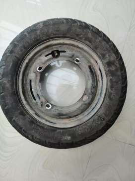 New tvs tyre with rim tubless