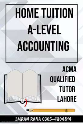 Home Tutor A-level Accounting