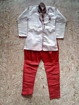 White colour Shervani with best design