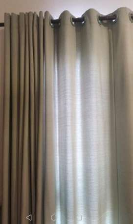 Curtains sage colour for 2 Rooms LiKe NEw
