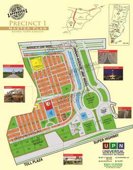 Karachi percinct 1 park face plot