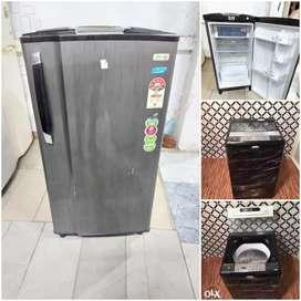 Godrej eon single door fridge with whirpool 123 washing machine
