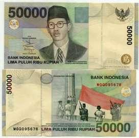 Uang WR. Supratman pecahan 50K Jaman Dulu tahun 1999