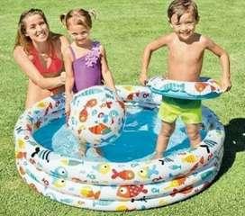Set kolam anak gratis bola+ ban pelampung