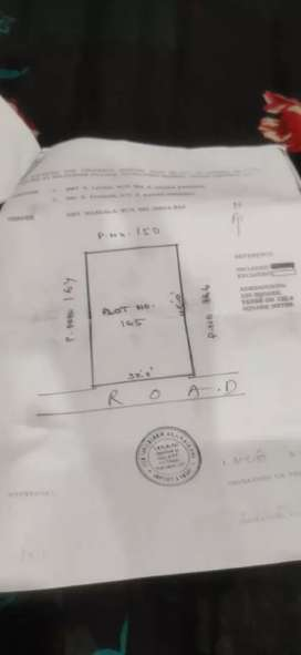 Open plot for sale with 1 room and hall