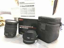 Sigma17-50mm 2.8 for canon first box opan