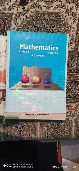 R.D shrma mathematics volume 2 but volume 1 available hai