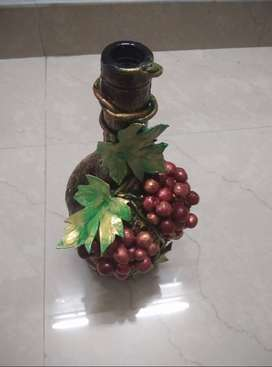 Hand made Grape Wine Bottle Art