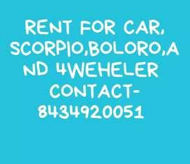 RENT FOR CAR SCORPIO