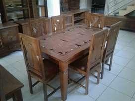 meja makan ukiran 6378