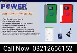 5.5 kw Hybrid Solar Inverter Run tour load with or without Batteries