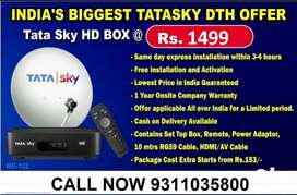 TATA SKY NEW HD CONNECTION WITH JUST RS 1499/-