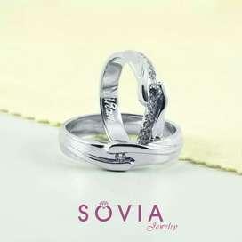 Menjual cincin nikah couple promo free ukir nama & box