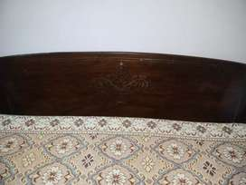2 pure wooden  single bed with 5 inches new condition metress