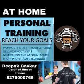 Fitness training at Home or Buildings Gym