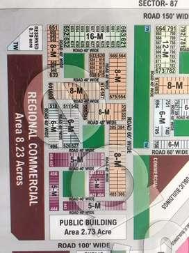 Available 16 Marla plot facing park sector 77  Mohali