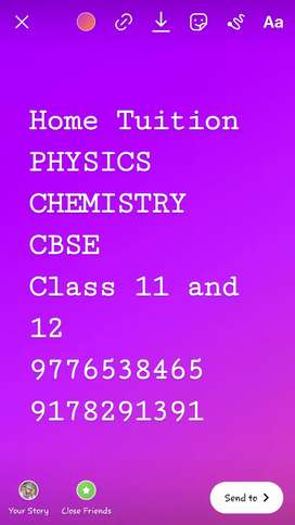 Tuition for physics and chemistry