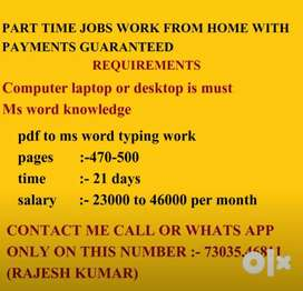 Data Entry Work With every month Payments In Bank Account