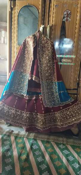 Bridal Lehnga just one day used .