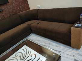 8 seater sofa with Table
