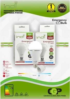 Lampu indi Led emergency bergaransi