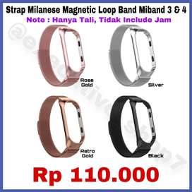 Strap Milanese Magnetic Loop Band Miband 3 & 4