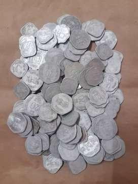 Old Aluminium Coins (100 nos lot )