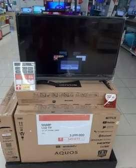 """Kredit SMART TV SHARP 32""""27-C32BG Cukup DP 530,000 Free 1x Angsuran"""