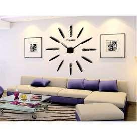 Jam Dinding Quartz Besar DIY 80-130cm DiameterDekorasi Ruangan