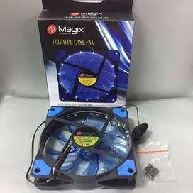 Fan Case 12Cm Lampu Magix 120MM PC Case Fan Casing LED 12 Cm - Biru
