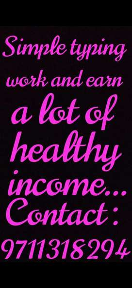 Earn extra income by typing...